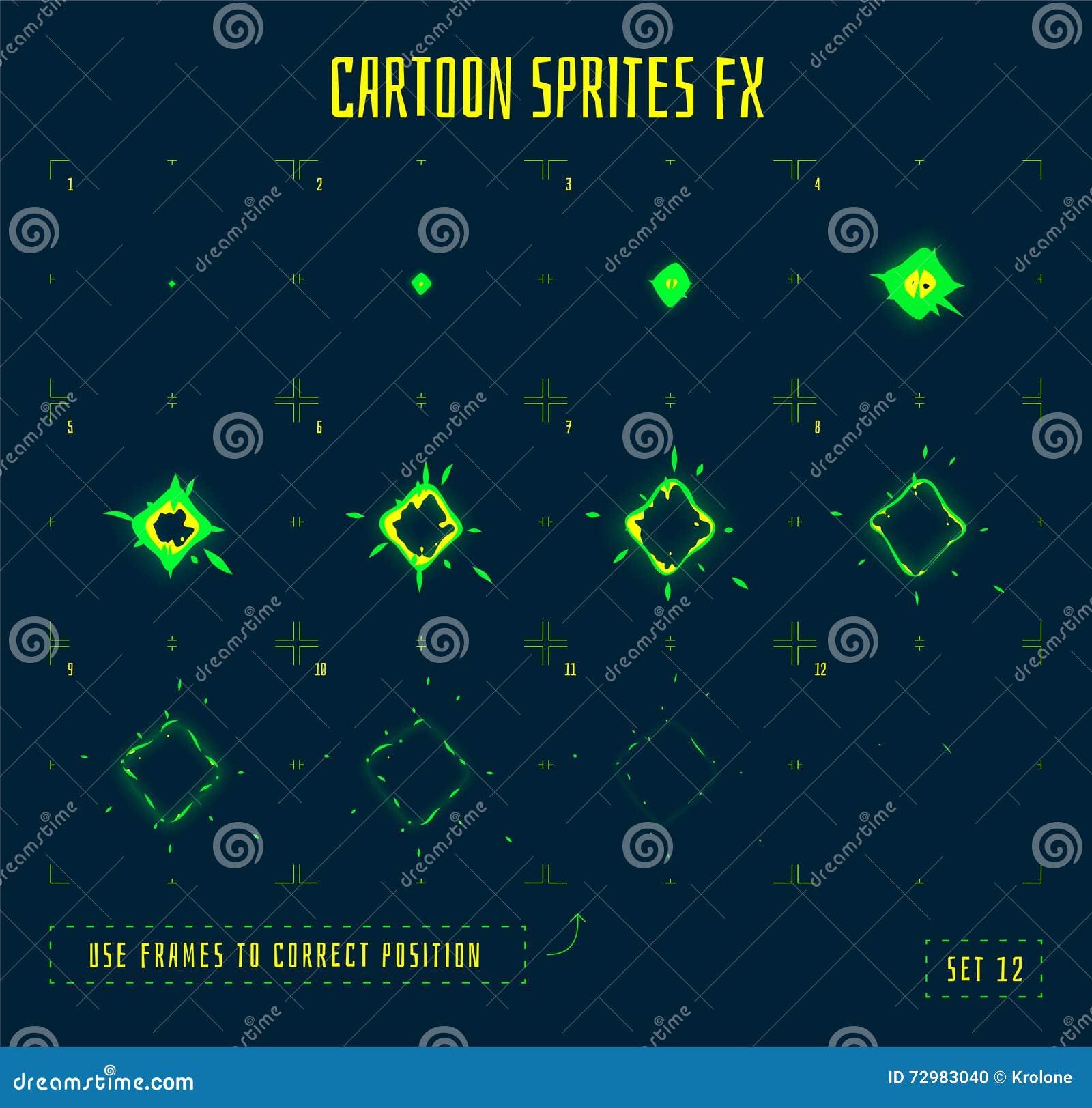 Animation Frames Or Energy Explosion Sprites Illustration 72983040 ...