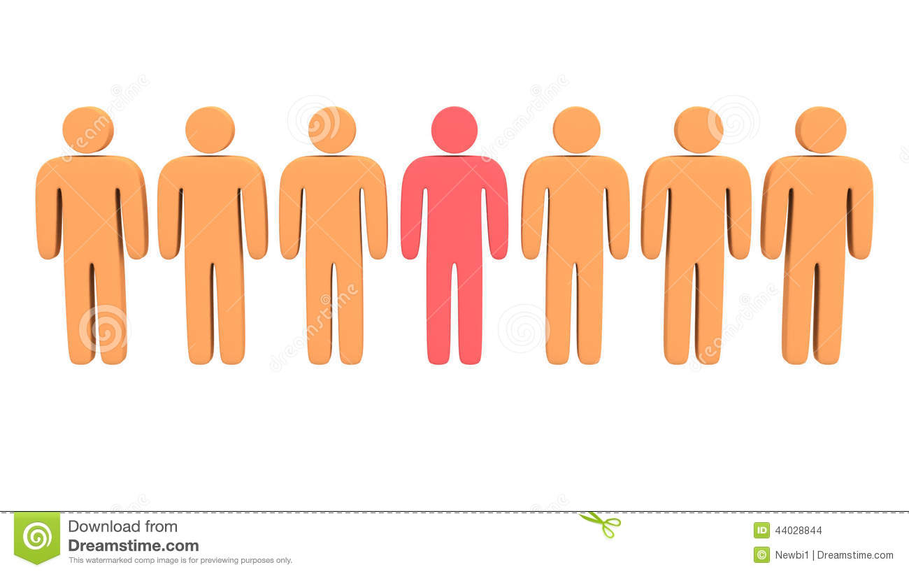 animation group of stylized people with teamleader stock footage