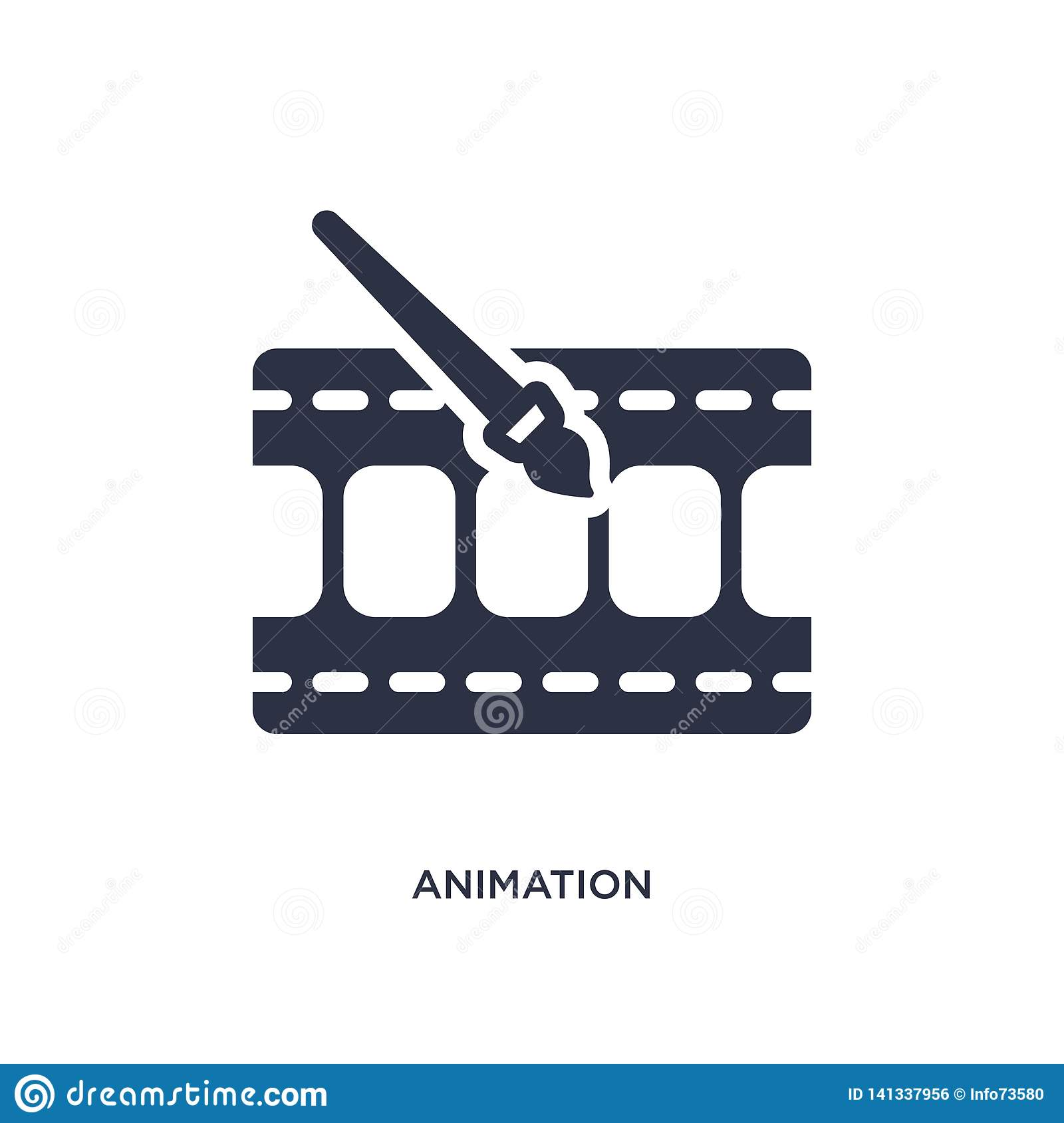 animation icon on white background. Simple element illustration from cinema concept