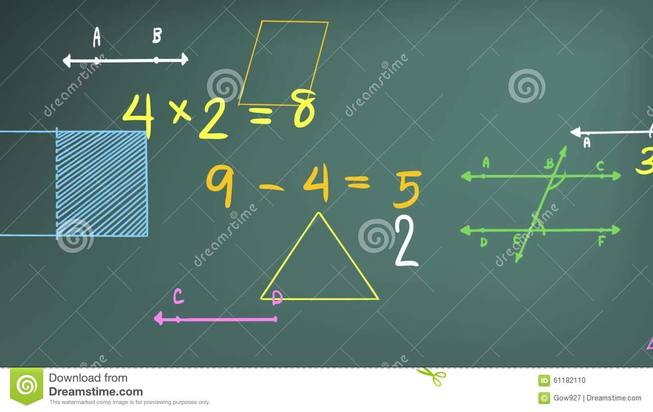 Animation of simple mathematics math subject numerical theory and animation of simple mathematics math subject numerical theory and mathematical sign and symbol with graph diagram and equation ico stock footage video of ccuart Images
