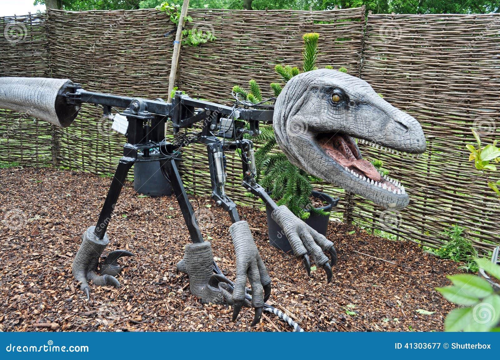 Animatronics binnen modelDinosaur