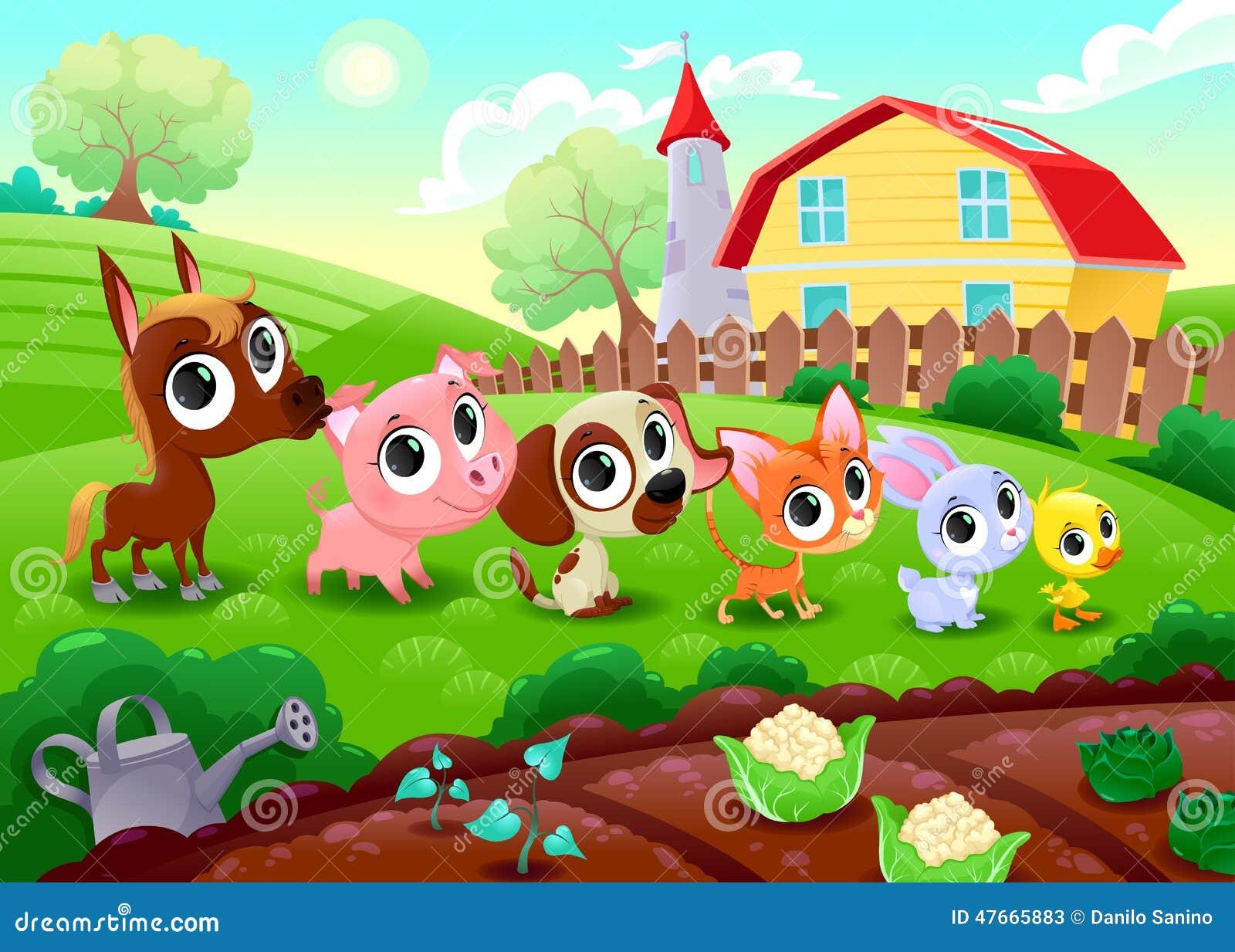 Animaux d 39 asile de fous dans le jardin illustration de vecteur illustration du barri re - Invasion d araignee dans le jardin ...