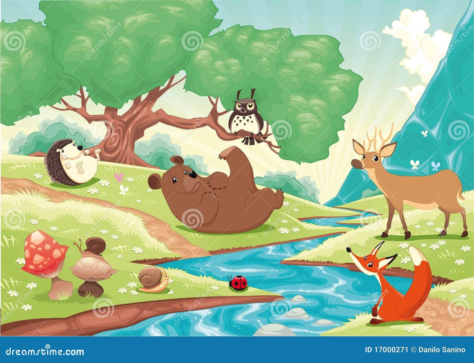 Animaux dans le bois