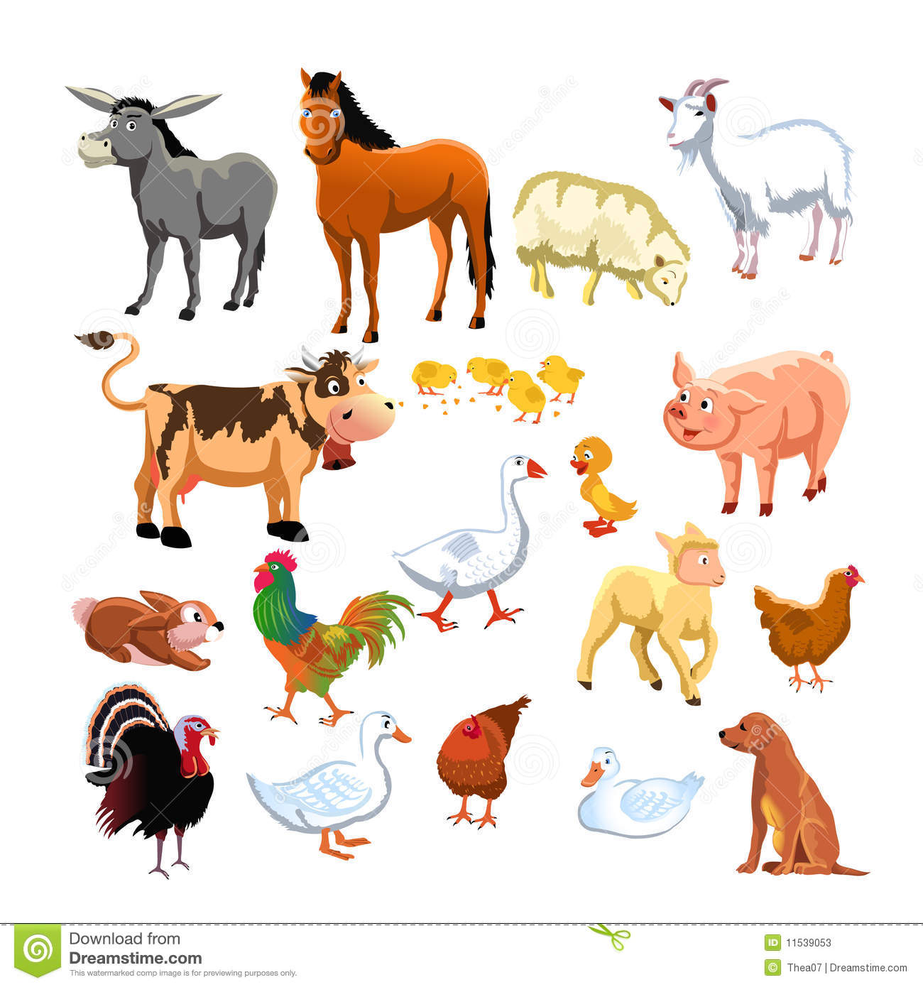 Animaux de ferme illustration de vecteur illustration du - Animaux ferme photos ...