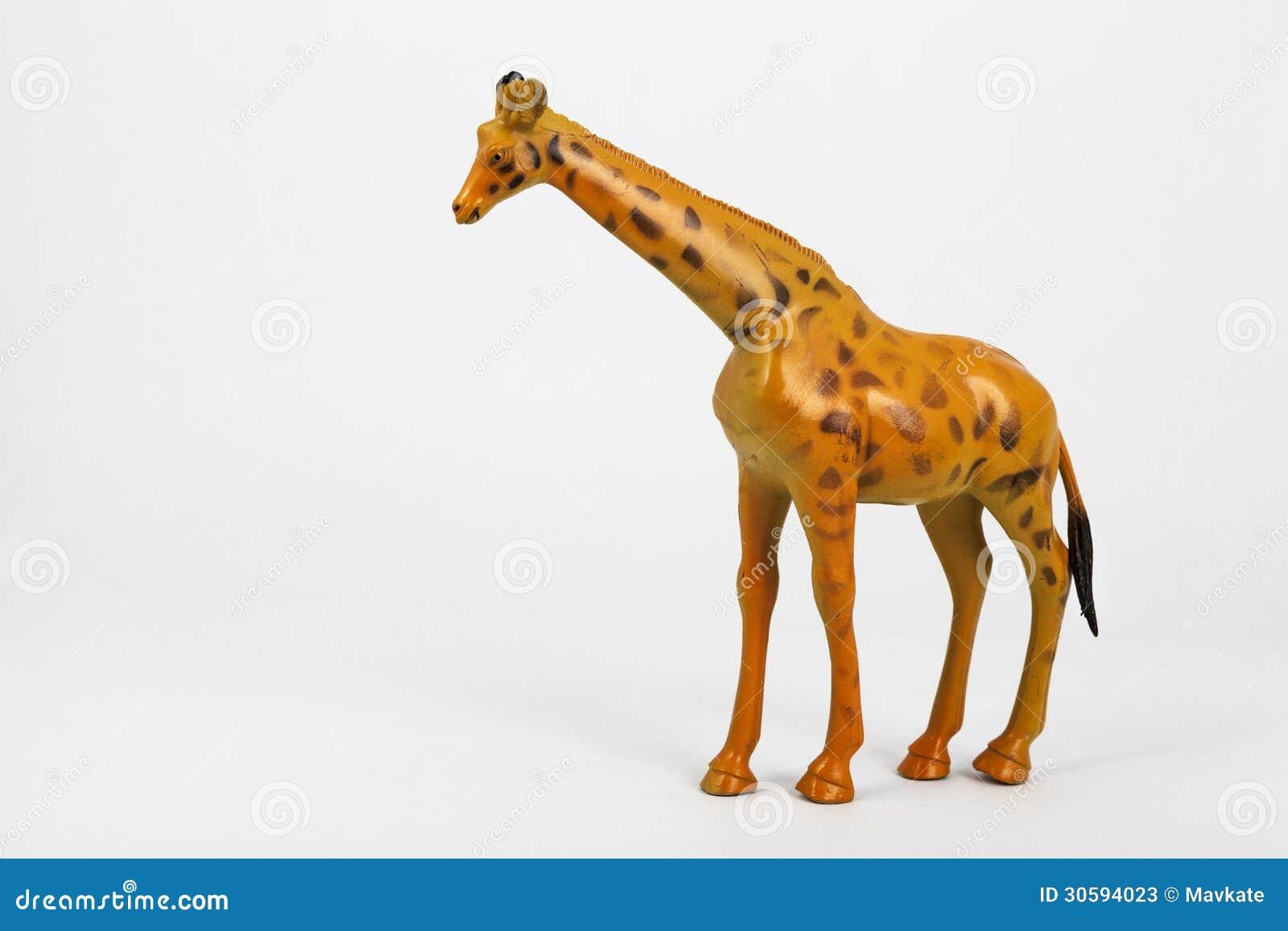 Animaux En Plastique Jouet animaux en plastique girafe et éléphant de jouet image stock