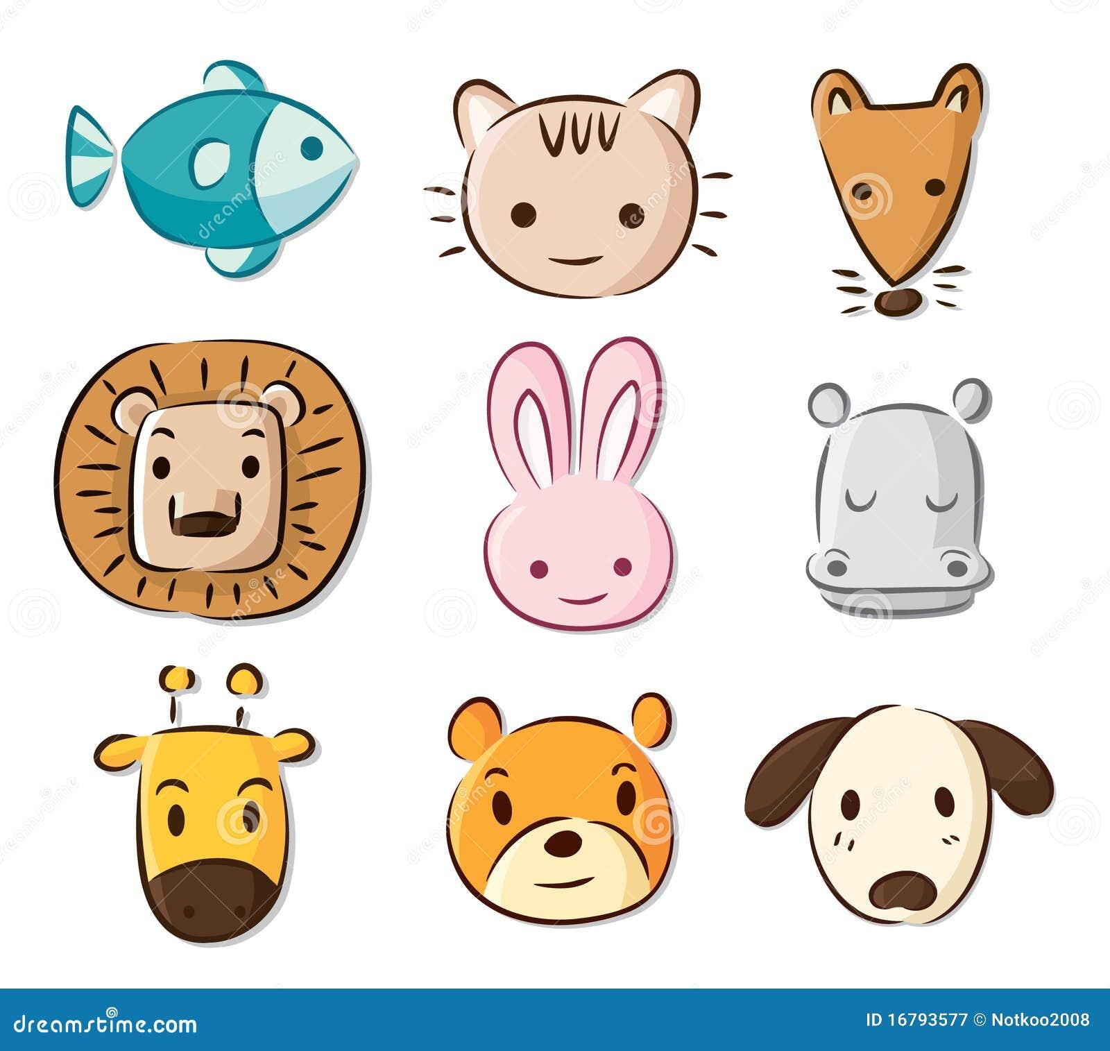 Dessin D Animaux Mignon animaux mignons de dessin animé illustration de vecteur