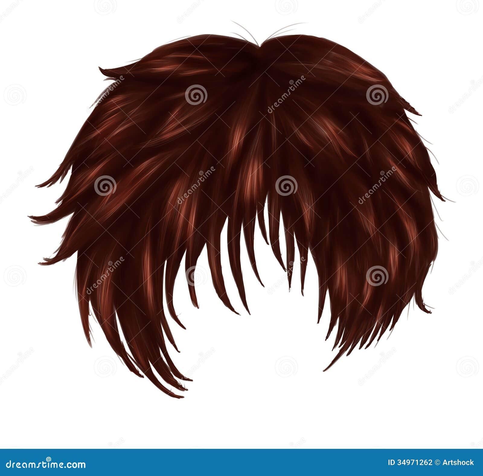 anime brown hair stock illustration illustration of hairdo 34971262