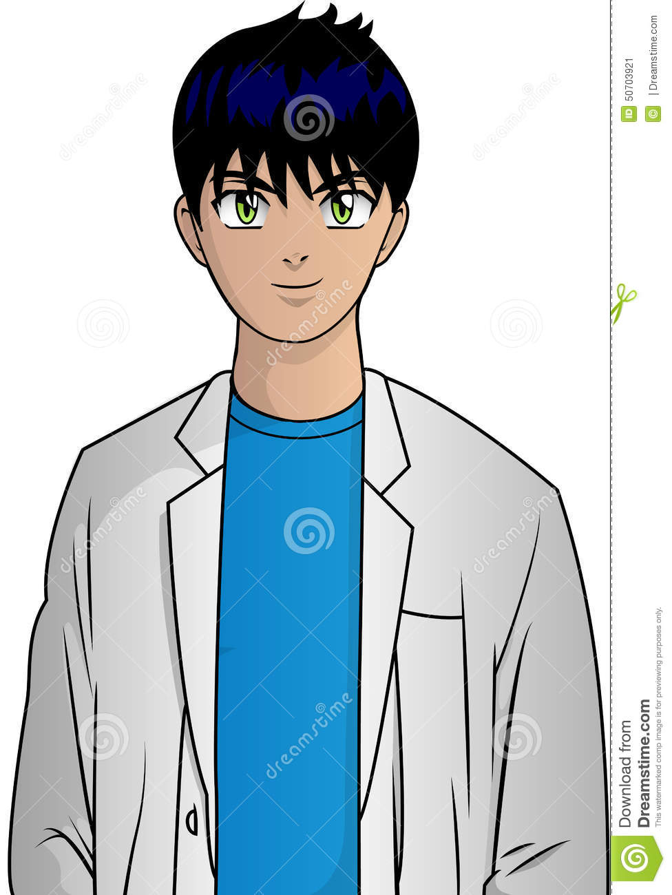 Anime Characters Vector : Anime doctor stock vector image