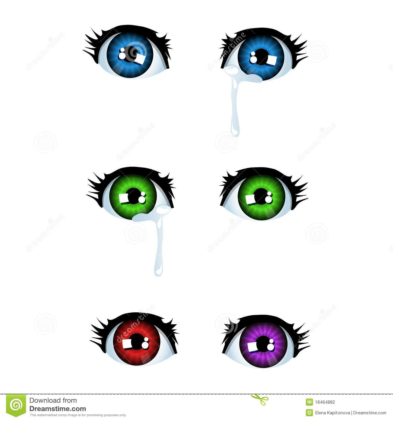 Anime Eyes Stock Vector. Illustration Of Painting, Eyelash