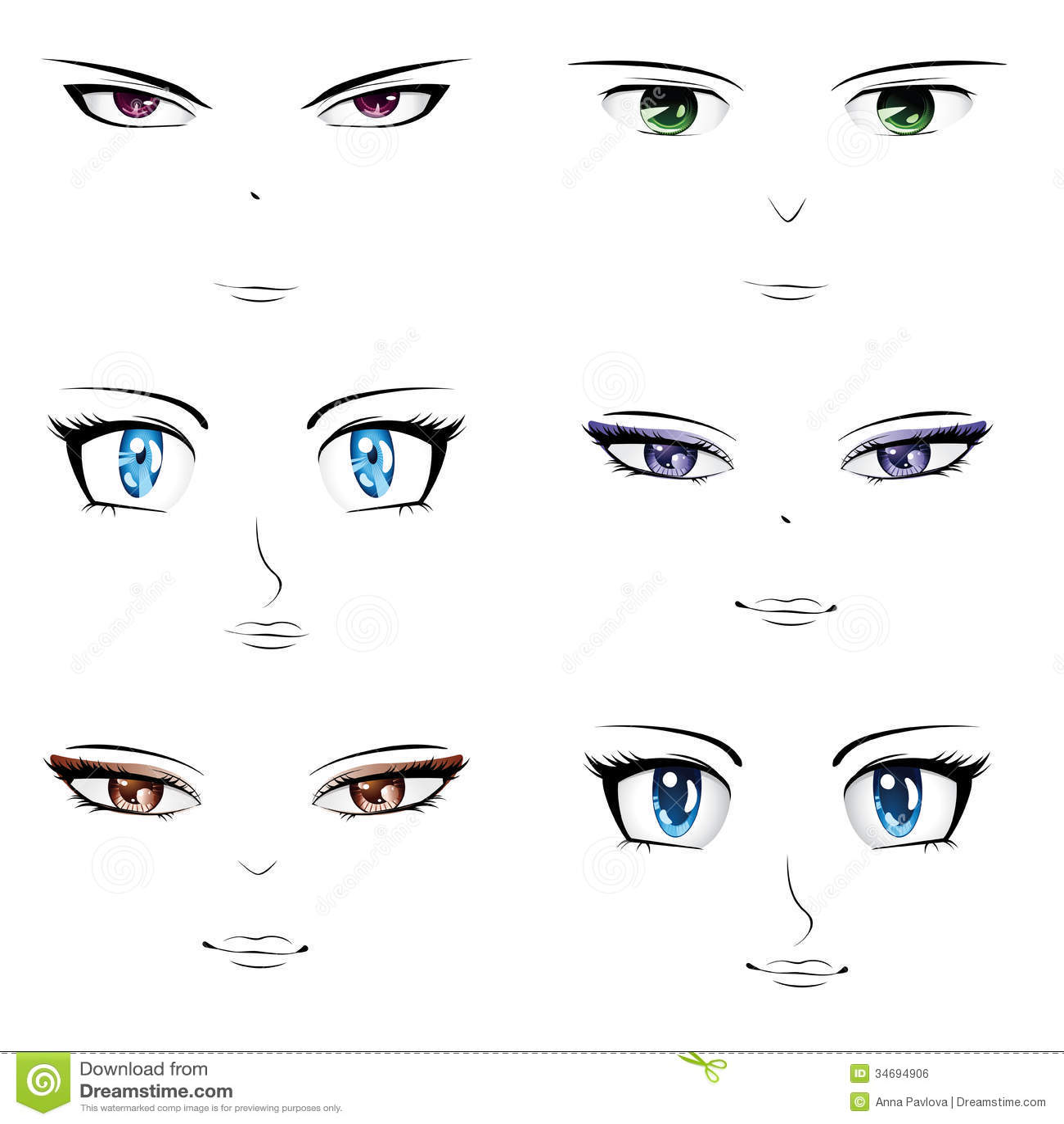 Anime faces