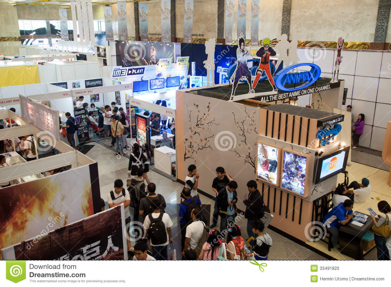 Anime Expo Stands : Anime festival asia indonesia editorial image