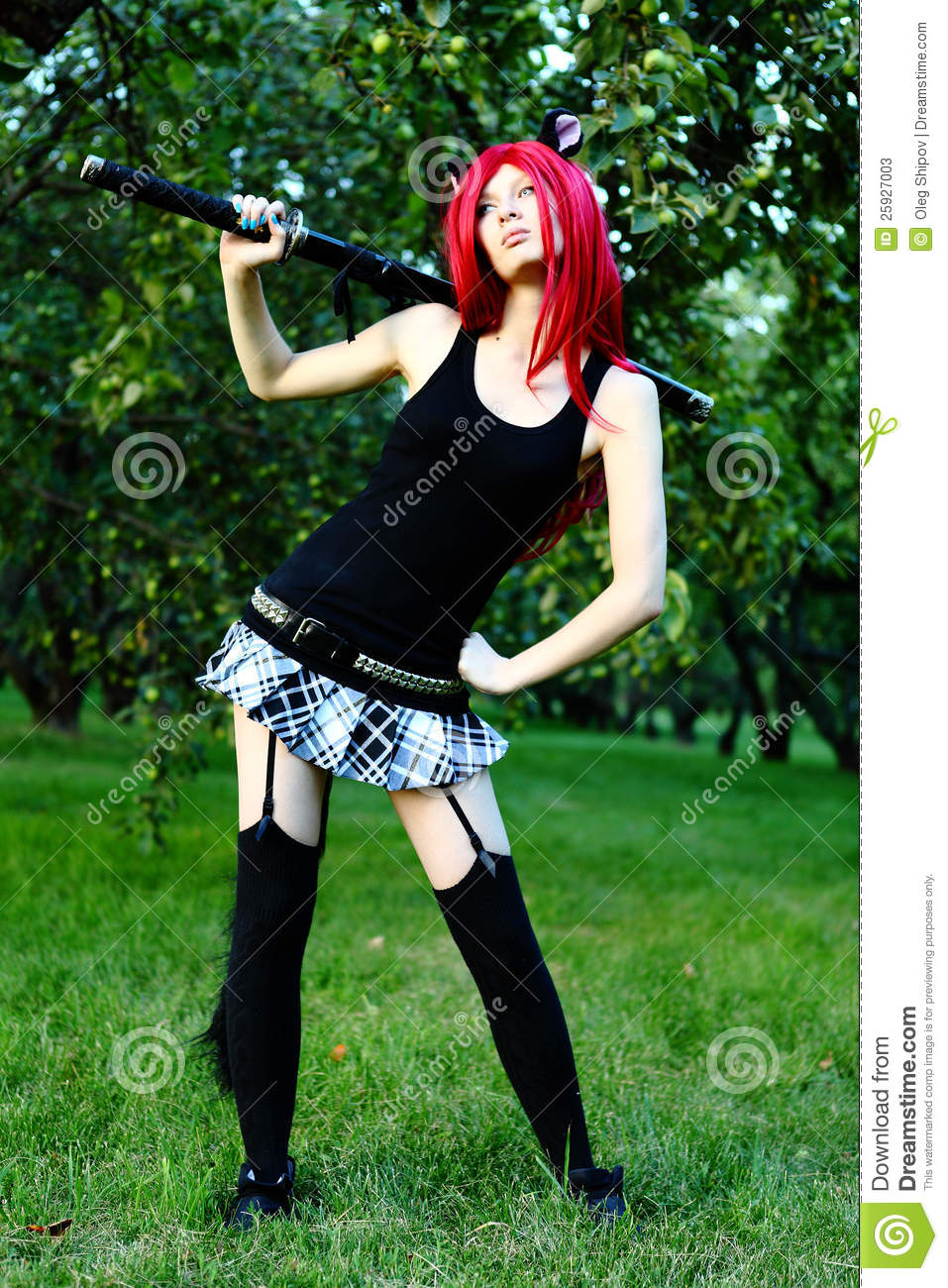 Anime Girl With Sword