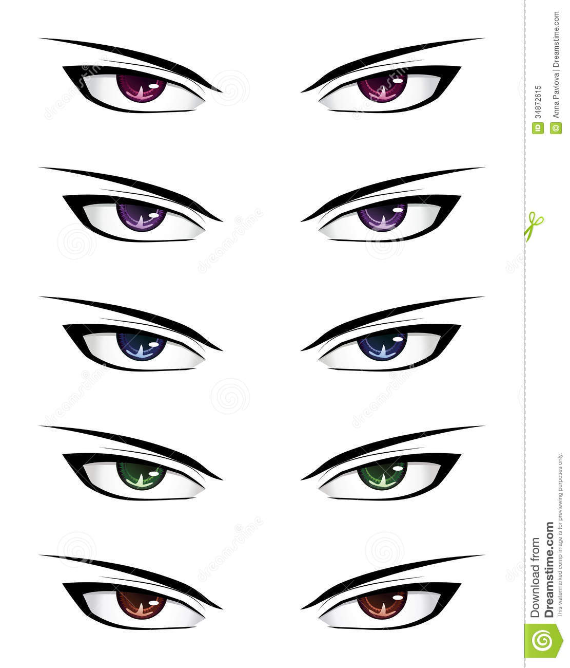 Anime Male Eyes Stock Vector Illustration Of Cartoon