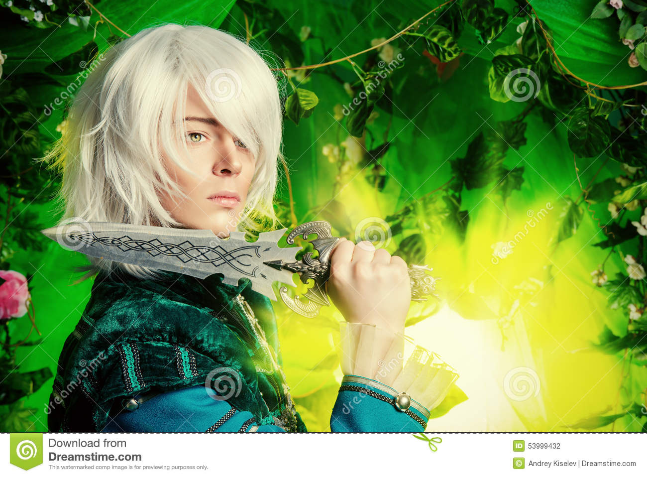Pin Anime Forest Magic Elf Princess Animal On Pinterest