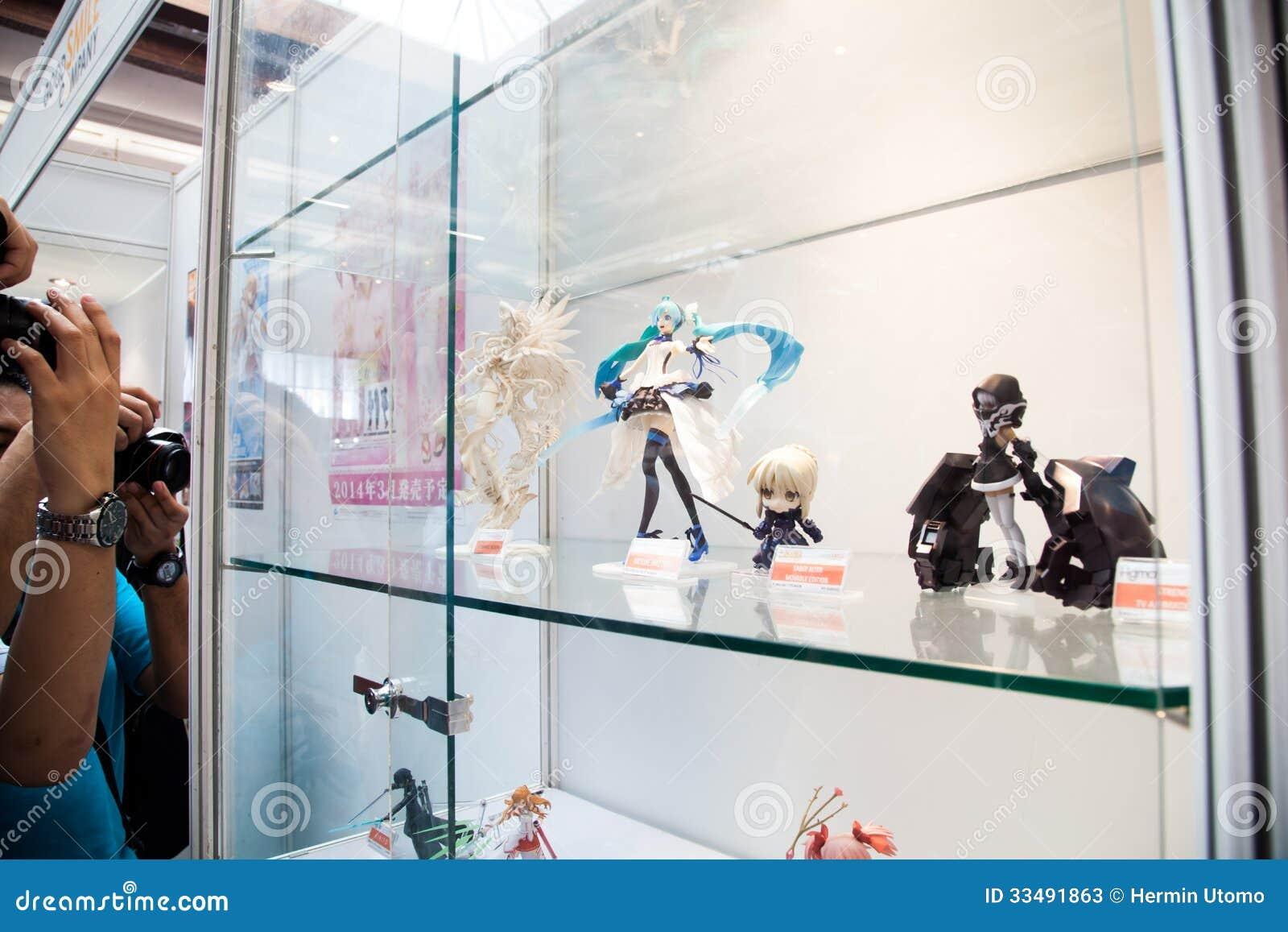 Anime Toy Figurine Showcase Editorial Stock Photo - Image: 33491863