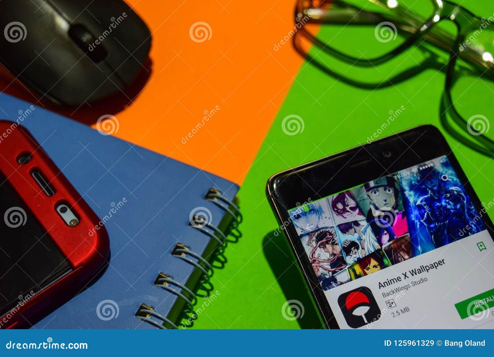 Anime X Wallpaper Dev App On Smartphone Screen Editorial