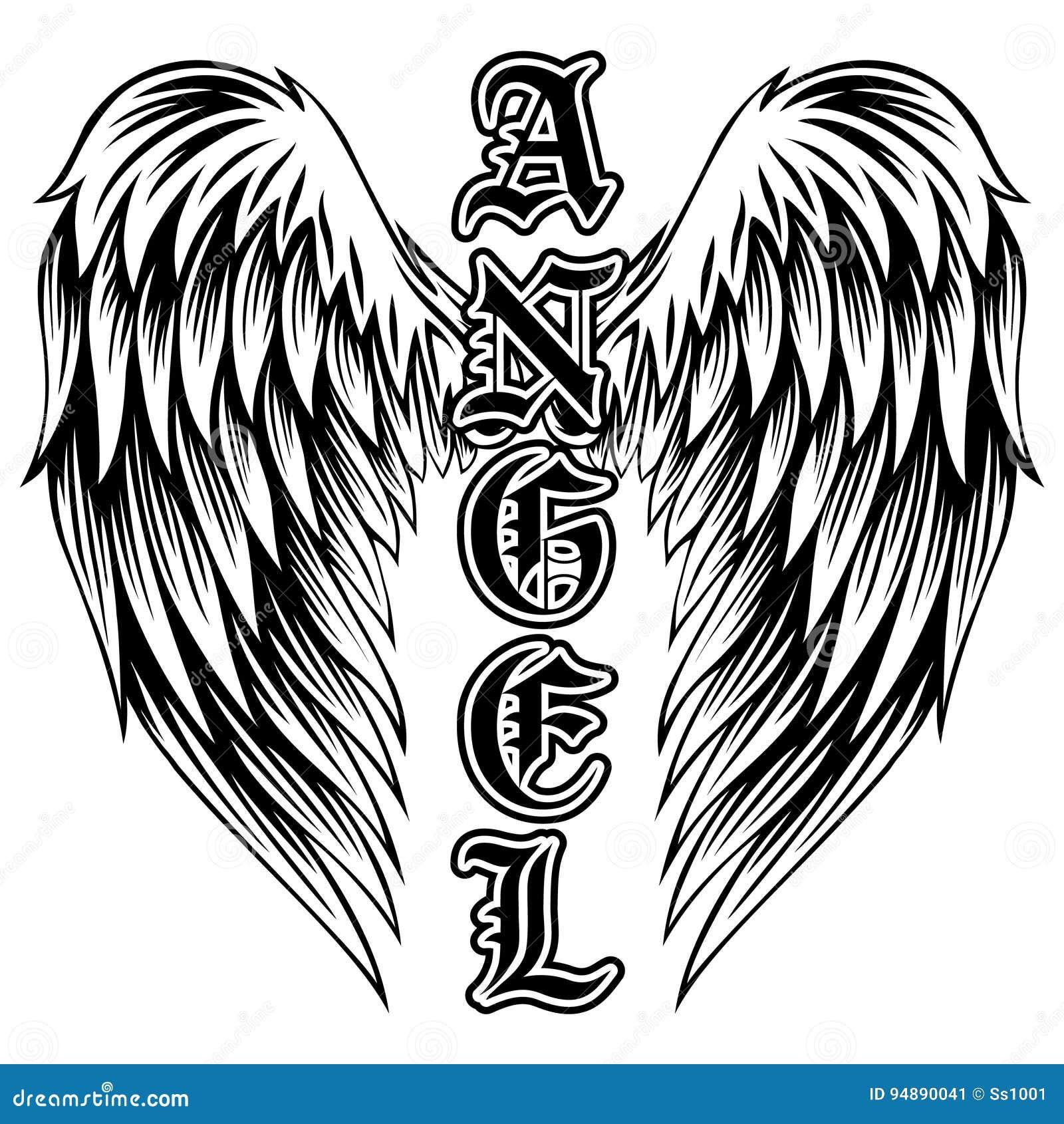 Anioł Ilustracja Wektor Ilustracja Złożonej Z Miłość 94890041