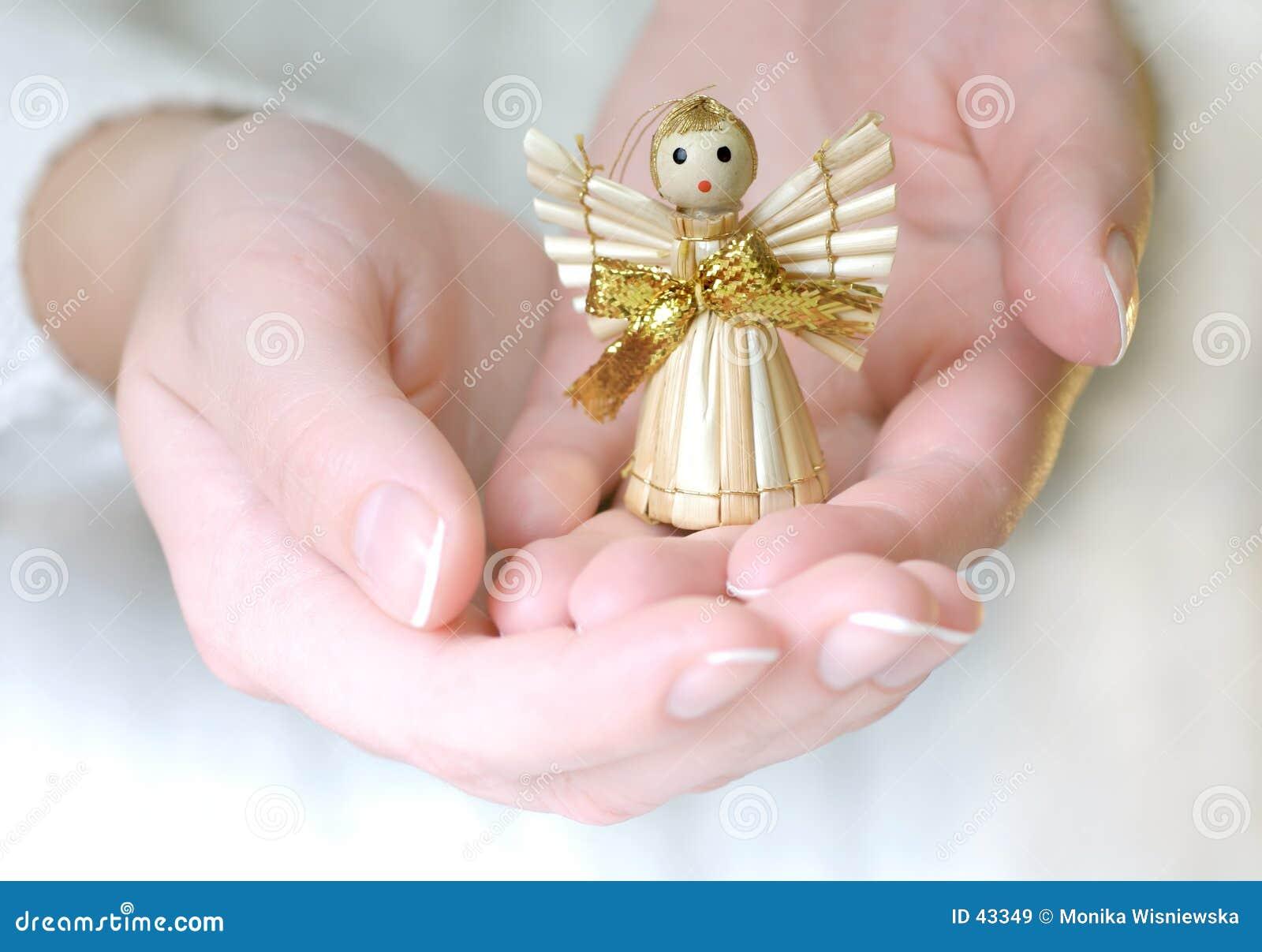 Anioł dekoracji małej