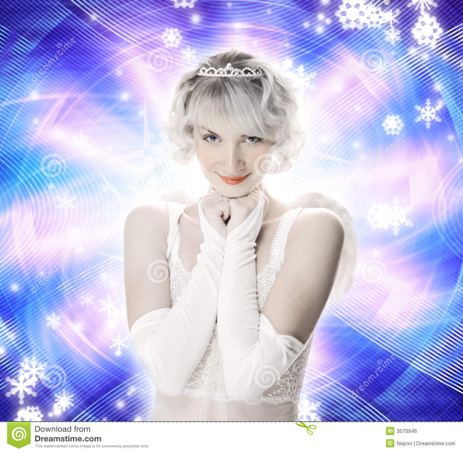 Anioł piękna dziewczyna