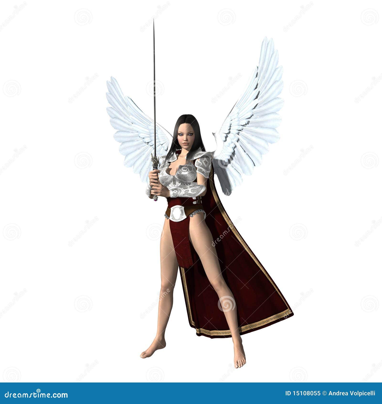 Anioł Sprawiedliwość Ilustracji Ilustracja Złożonej Z Sprawiedliwość 15108055
