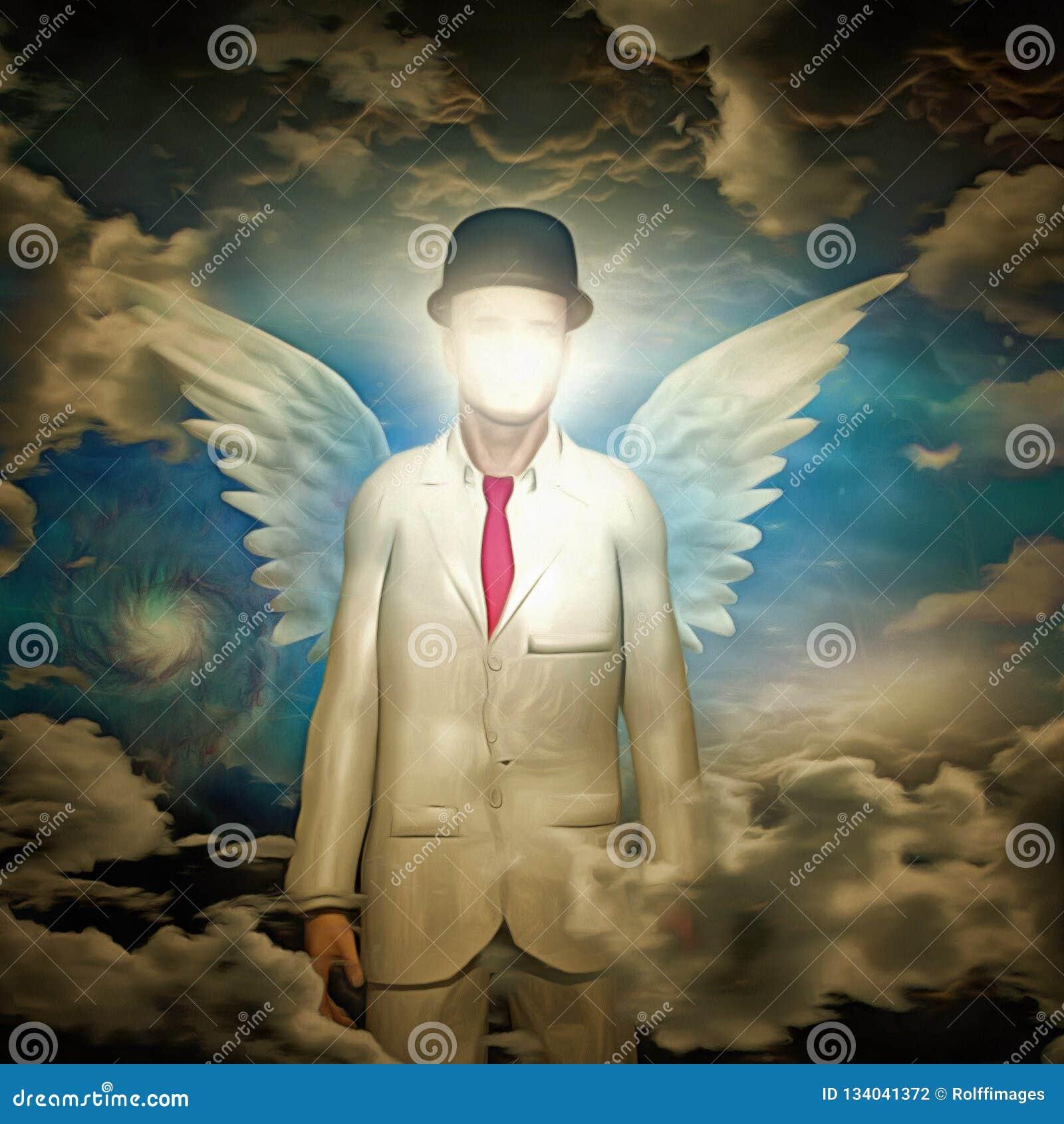 Anioł w białym kostiumu