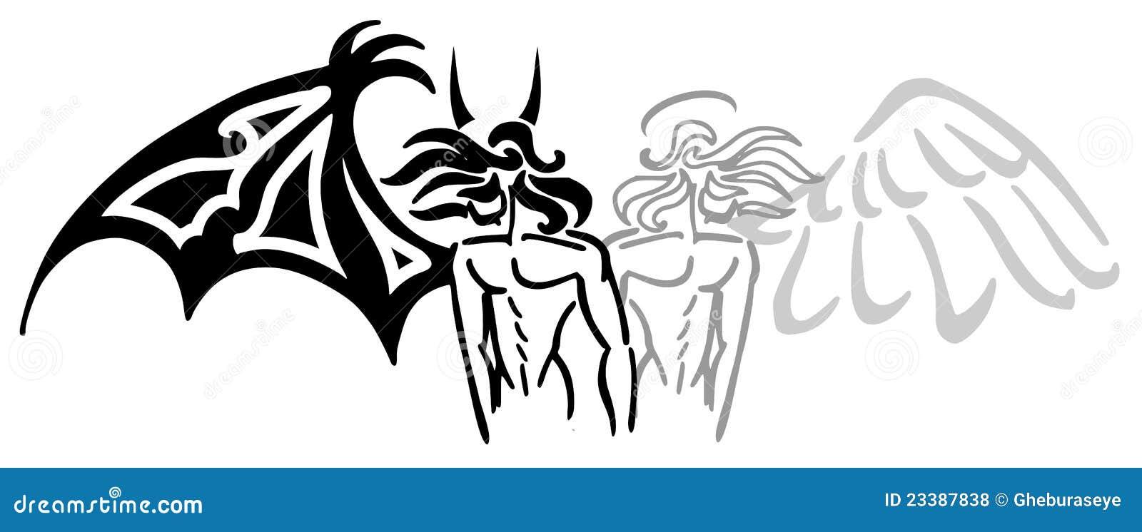 Anioła Diabeł Ilustracja Wektor Ilustracja Złożonej Z Human