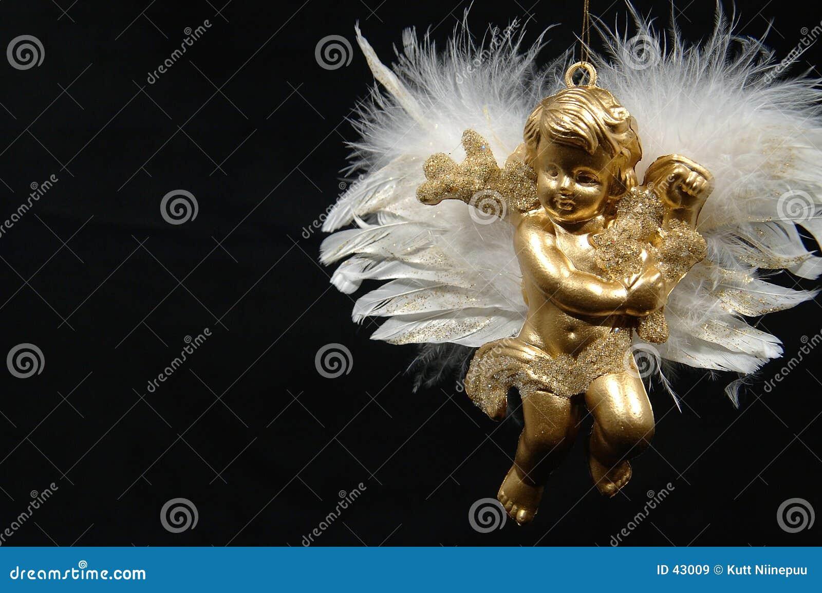 Anioły święta ornamentu końcowa część vi złota