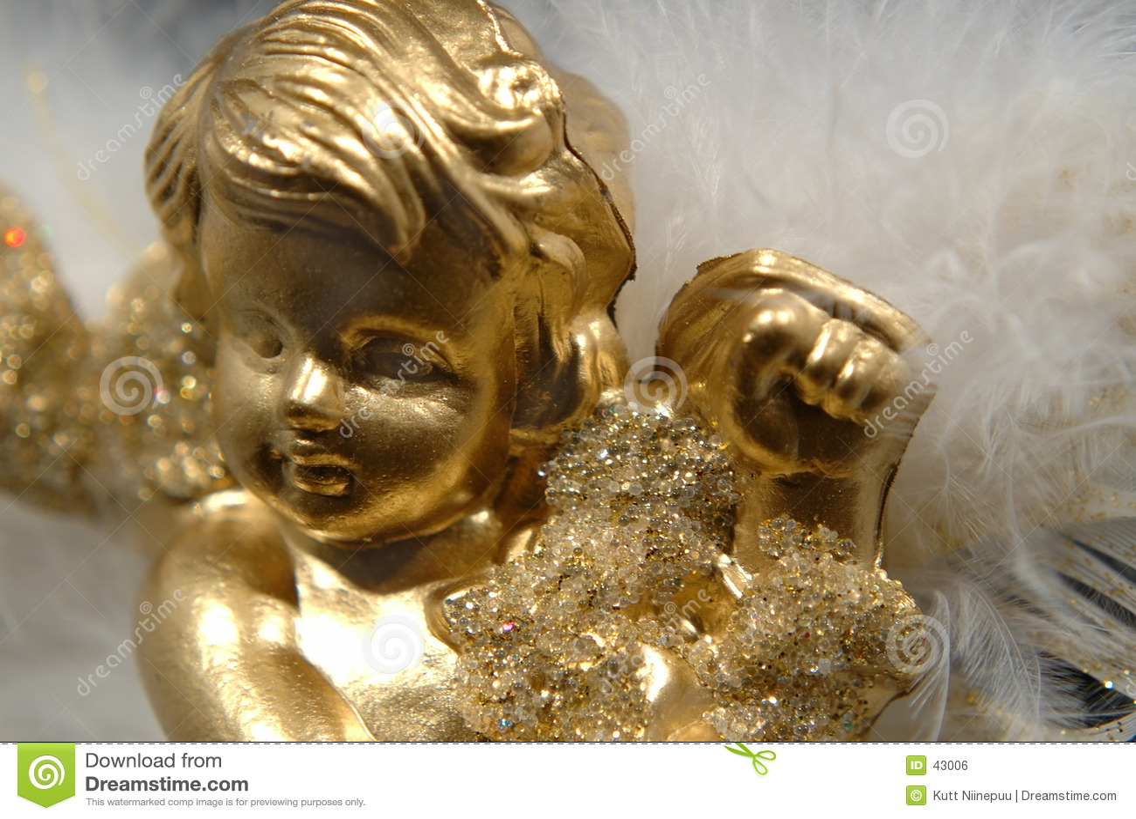 Anioły gwiazdkę złota ornamentu części v