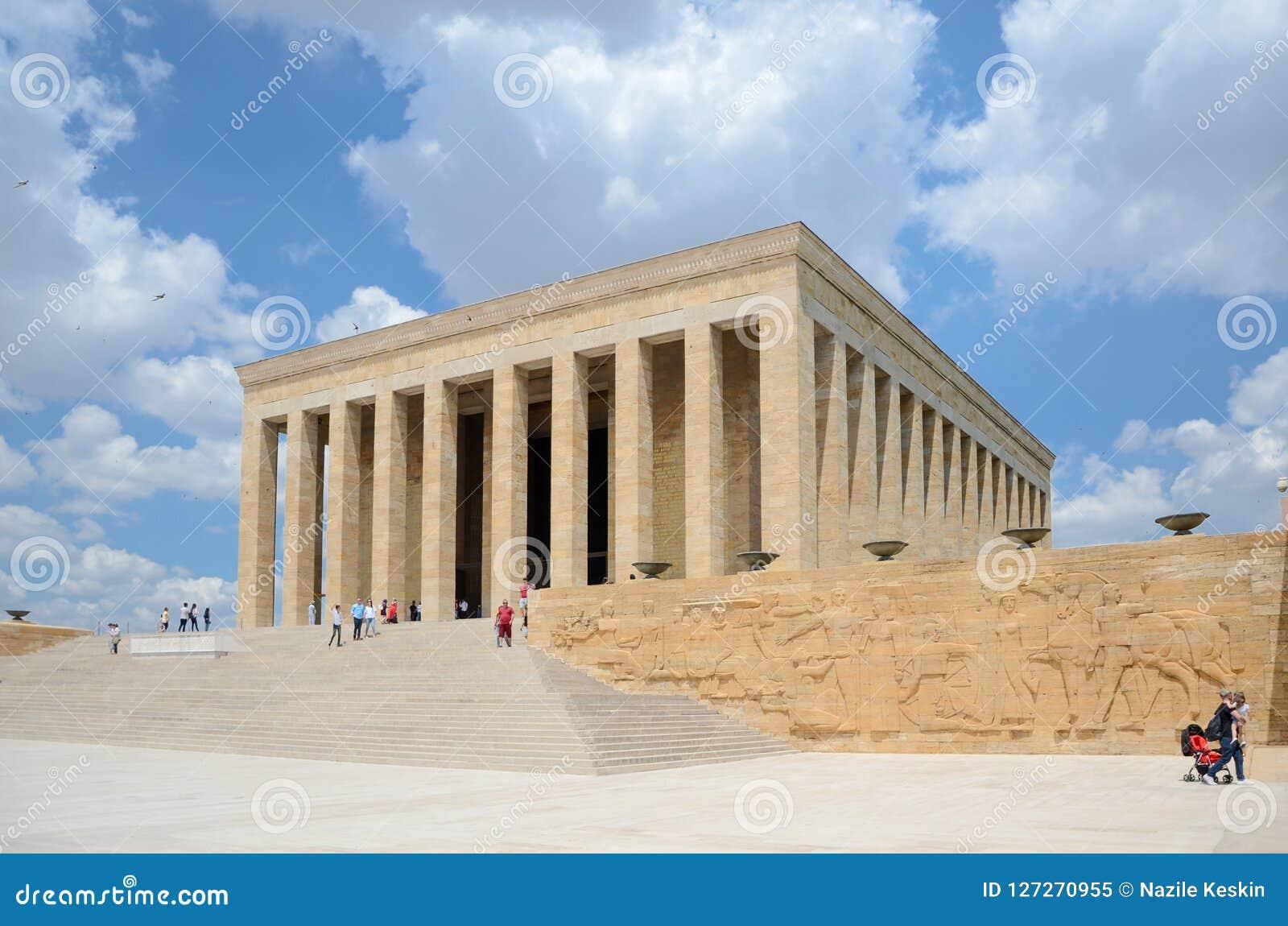 Anitkabir - Mausoleum van Ataturk, Ankara Turkije