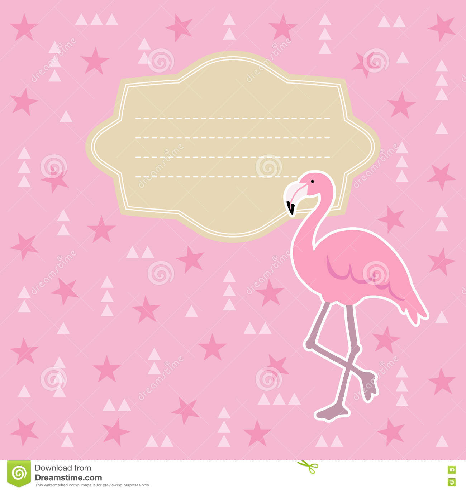 Aniversário Cartão Da Festa Do Bebê Convite Ilustração Do Vetor