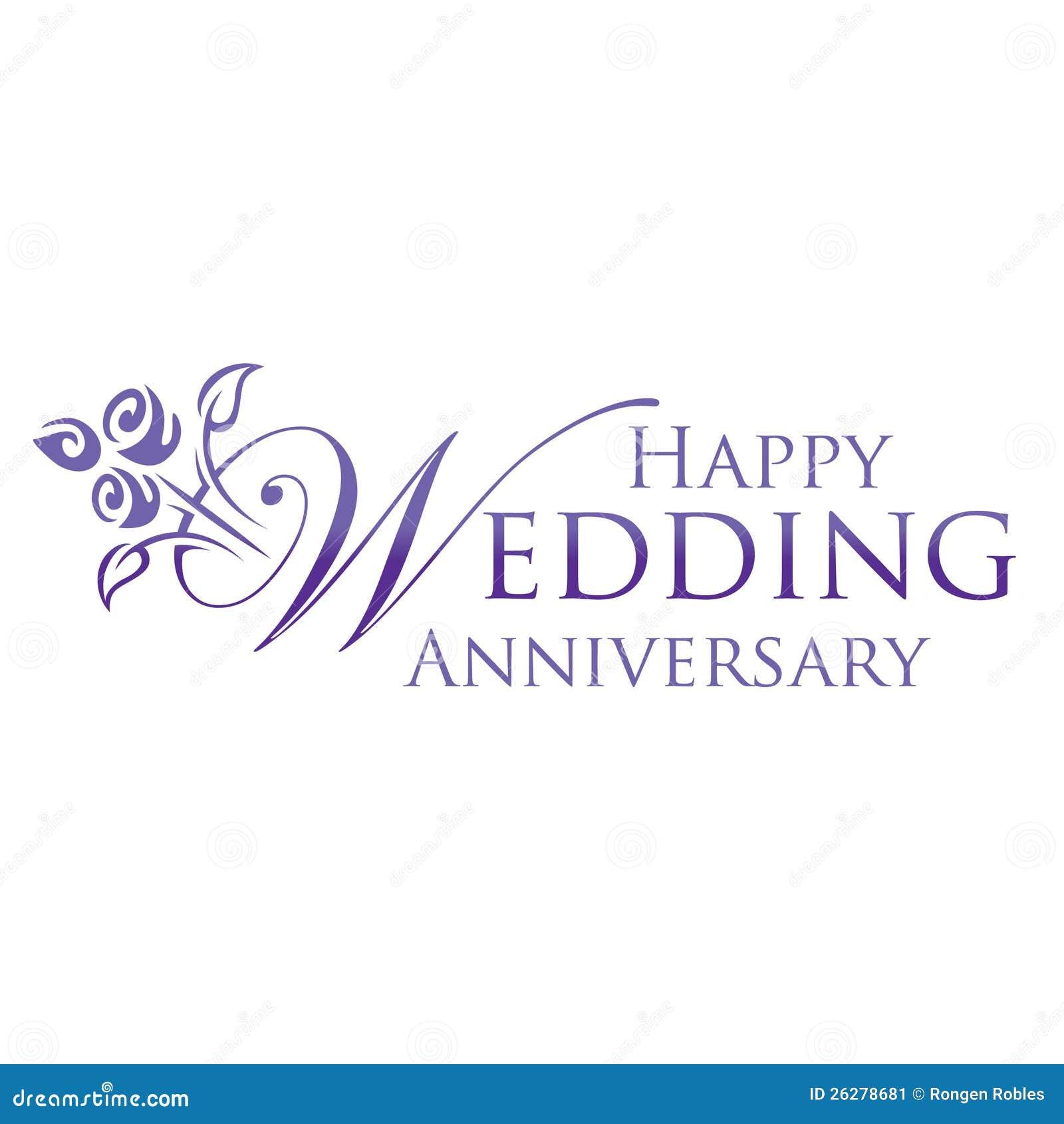 Aniversário de casamento feliz