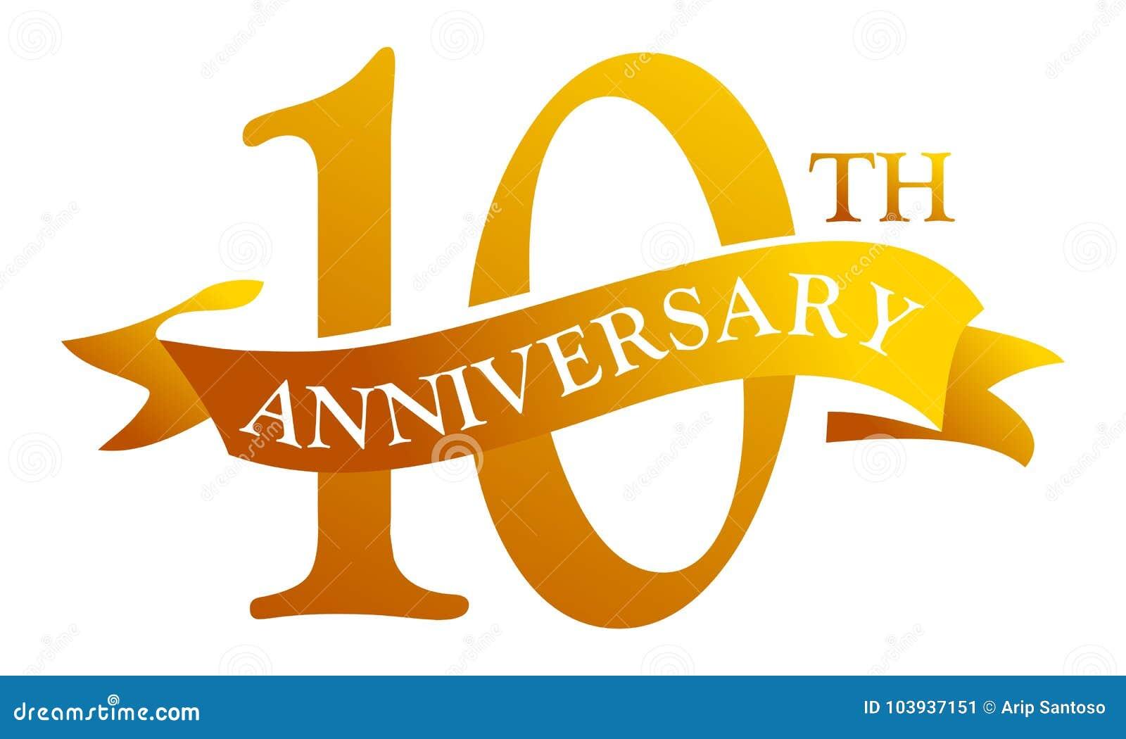 Aniversario de la cinta de 10 años