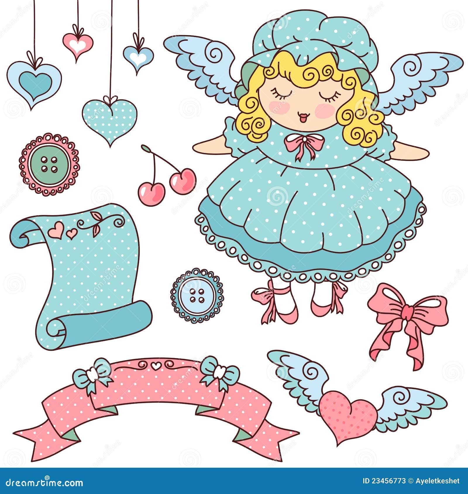 Anjo e ícones bonitos