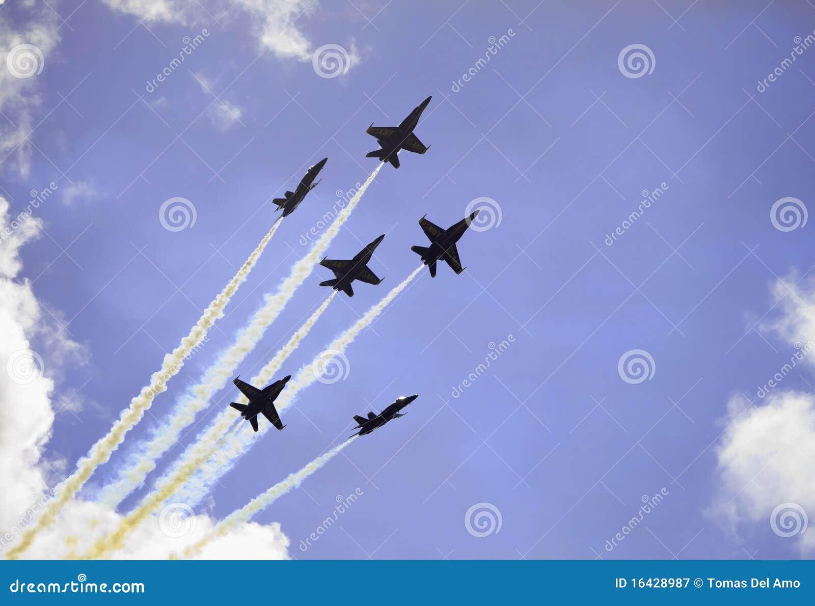Anjos azuis no vôo