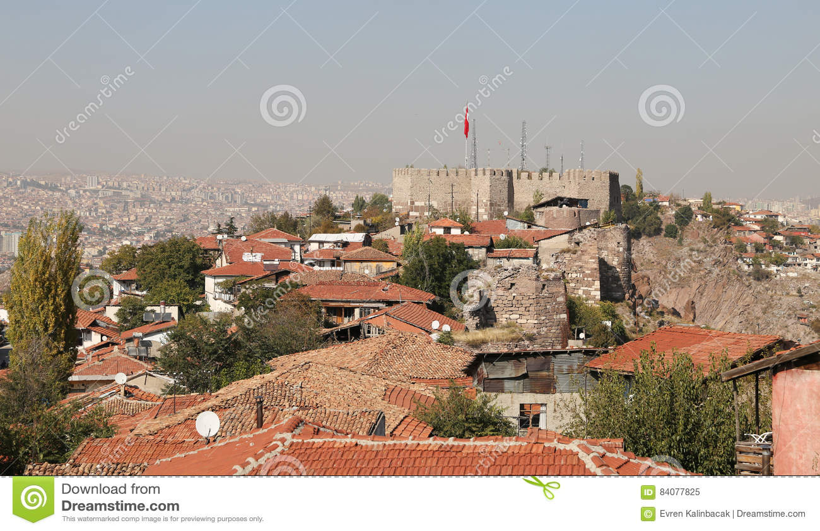 Ankara Castle In Turkey Stock Photo - Image: 84077825
