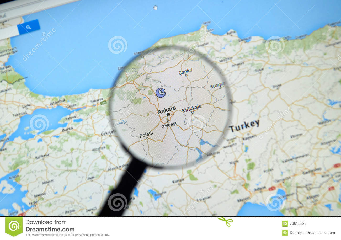 Ankara on Google Maps editorial image  Image of bright - 73615825