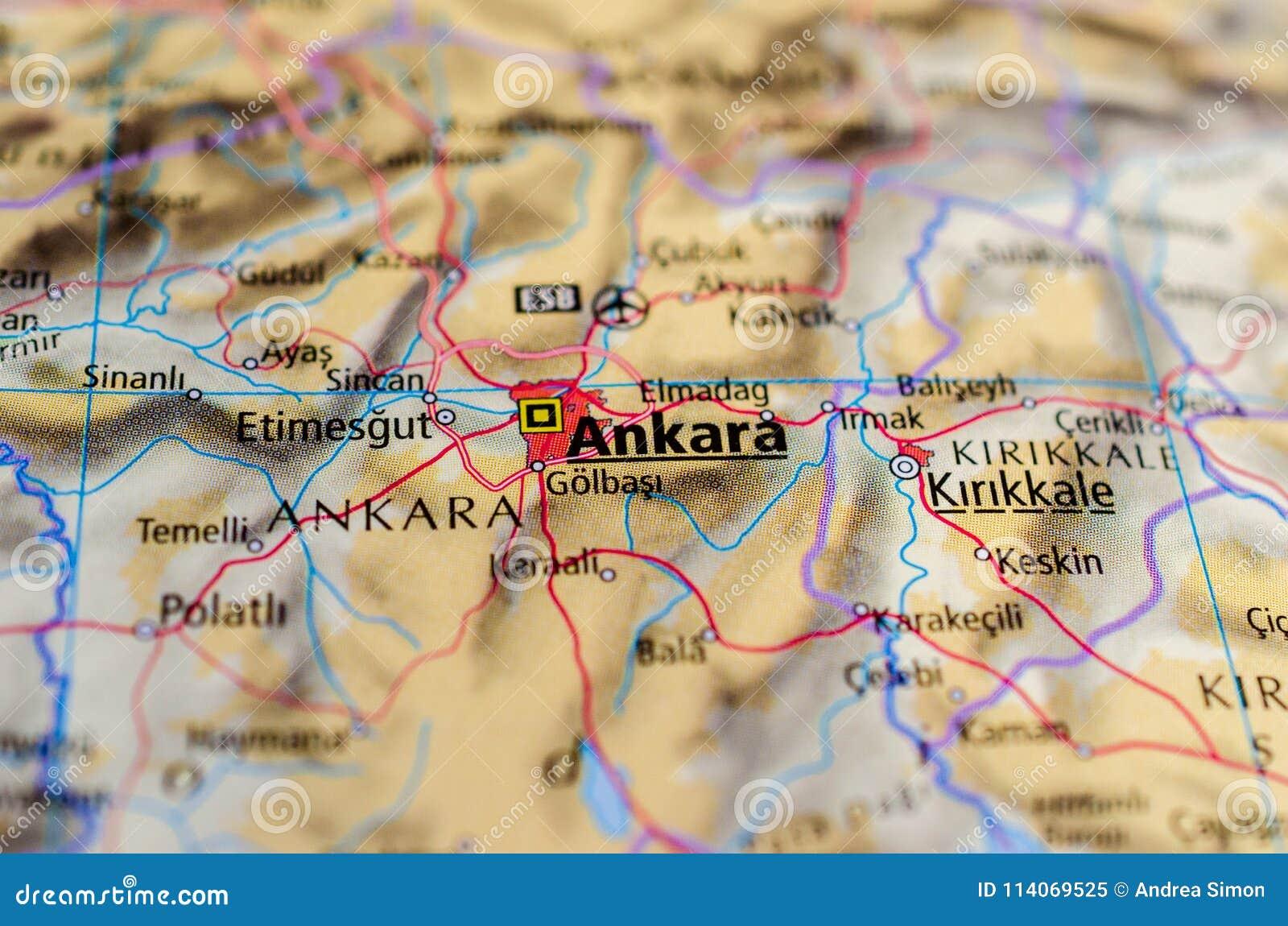 Ankara na mapie