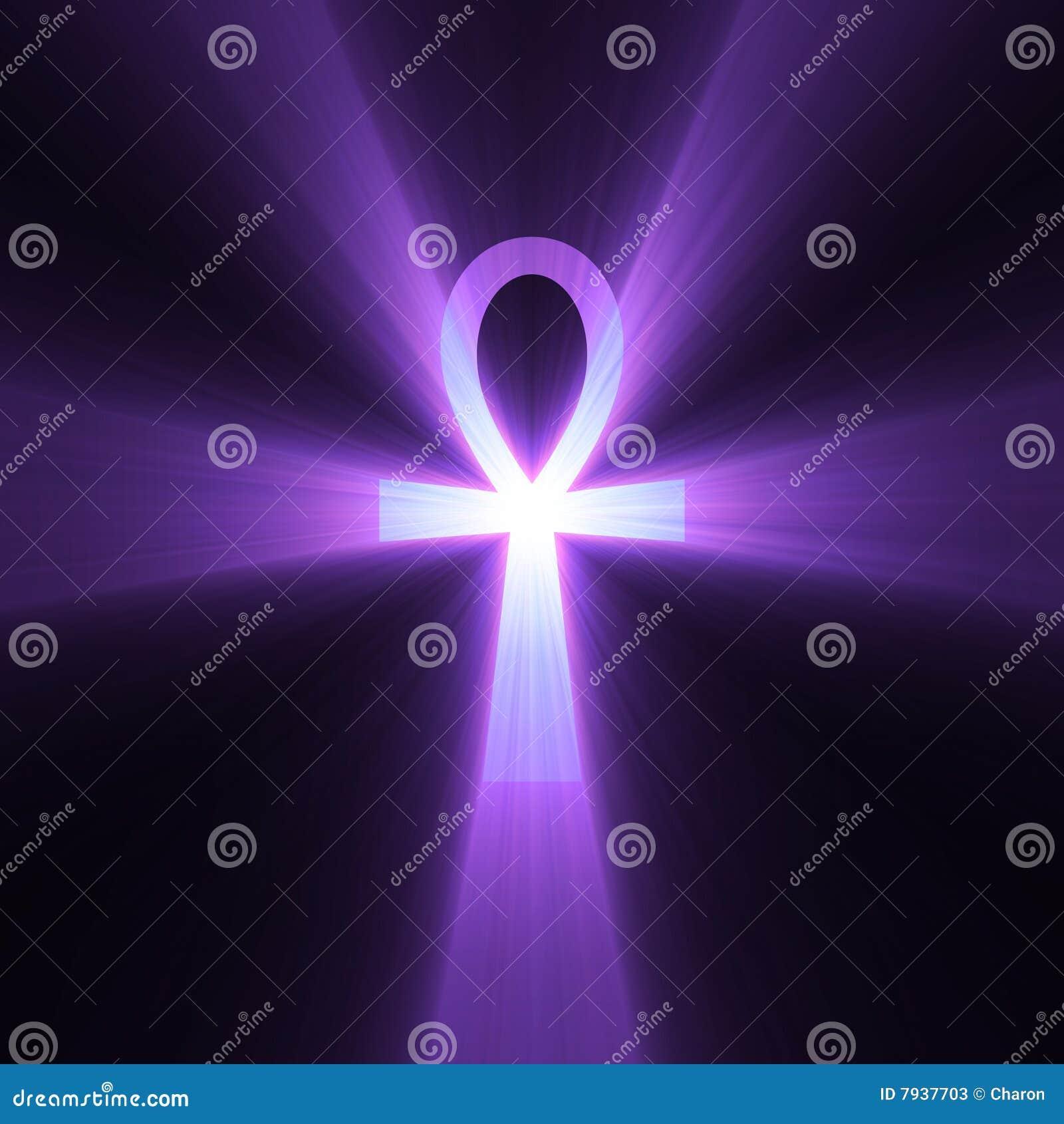 Ankh Egyptian Symbol Of Life Light Flare Stock Illustration