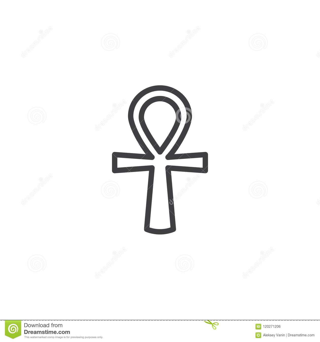 Ankh Outline Icon Stock Vector Illustration Of Antique 120271206
