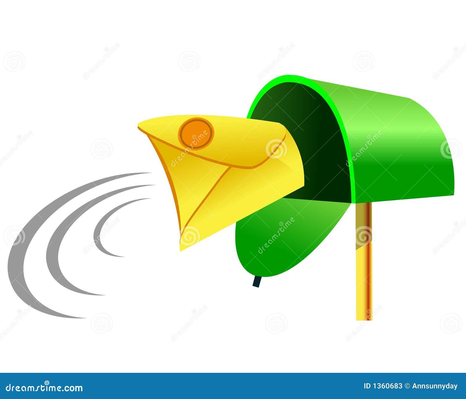 ankommende post  mailbox stock abbildung illustration von Mailbox Clip Mailbox Clip