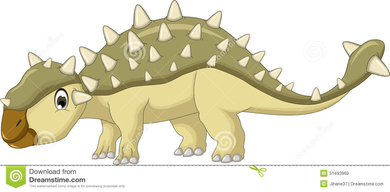 Ankylosaurus Dinosaur Cartoon Stock Illustration Image