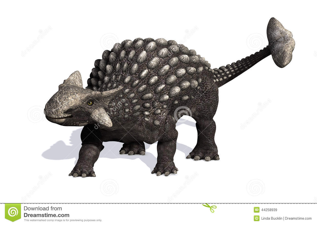 The Ankylosaurus dinosaur lived during the Cretaceous period - 3D ...