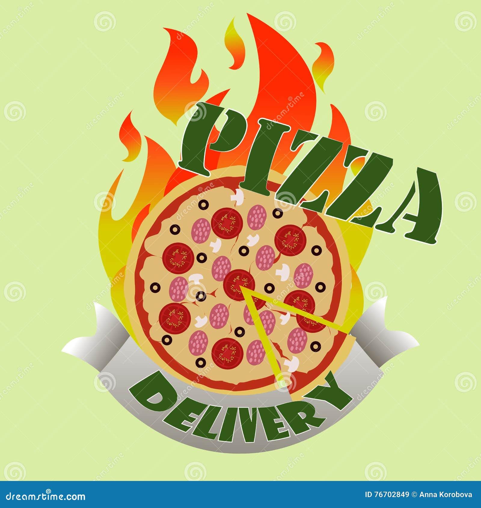 Anlieferung der Pizza