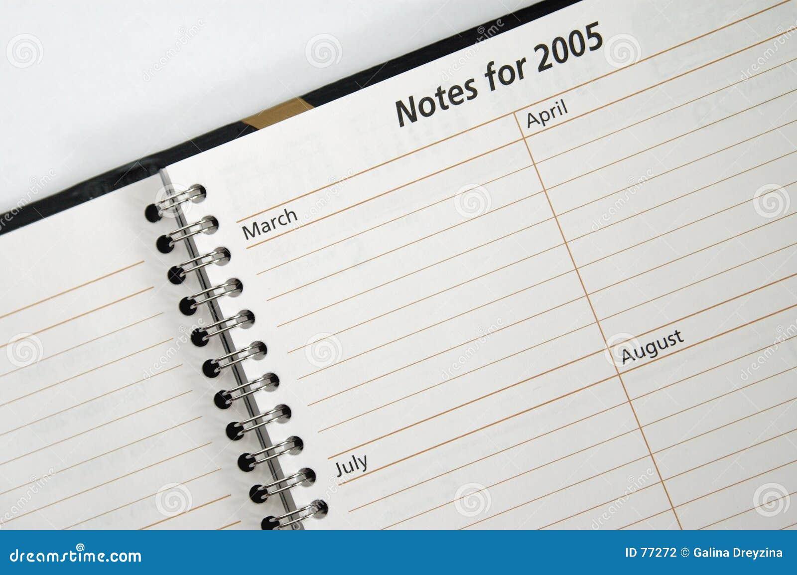 Anmerkungen für 2005