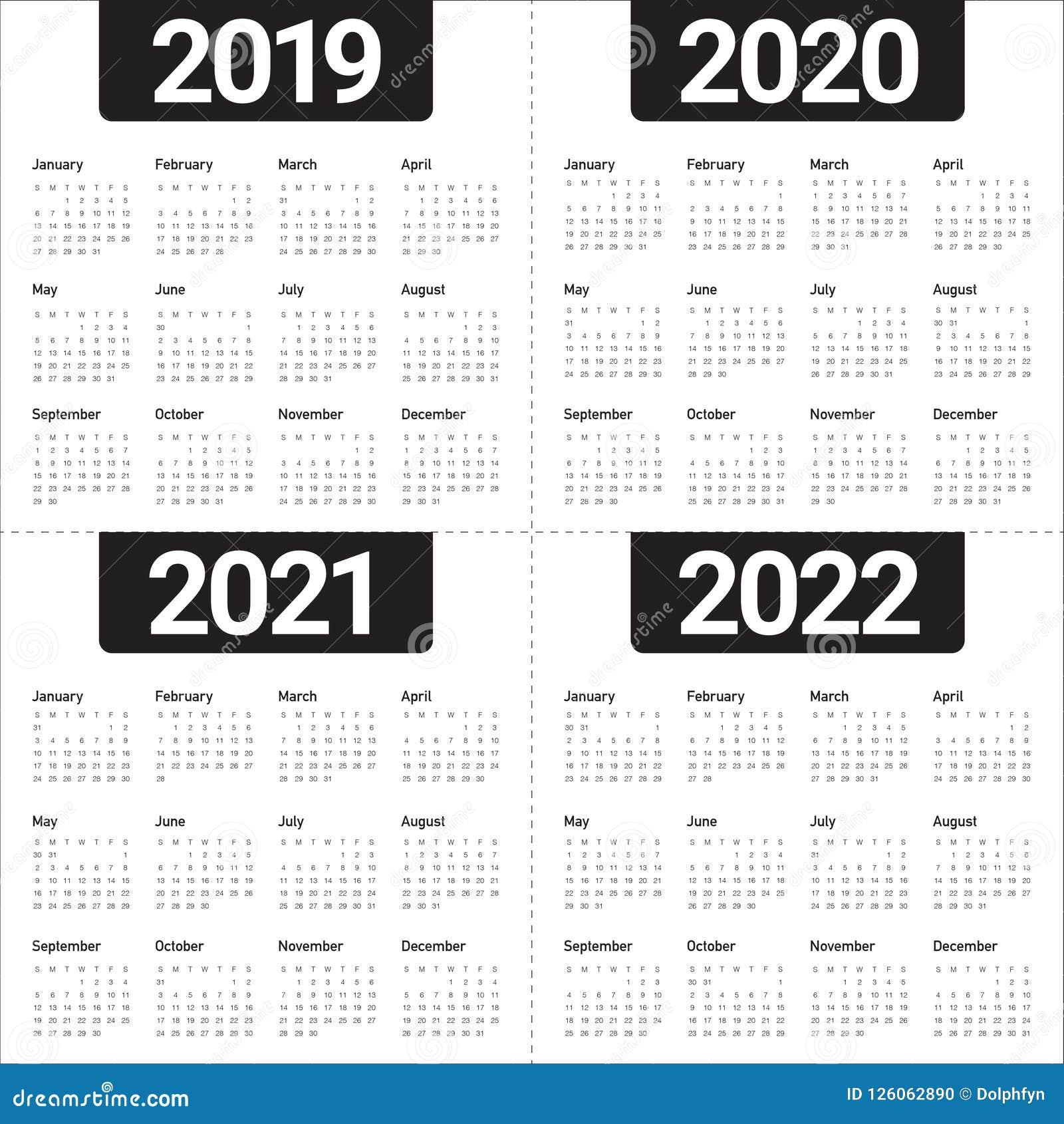 Année 2019 2020 2021 Calibre De Conception De Vecteur De 2022