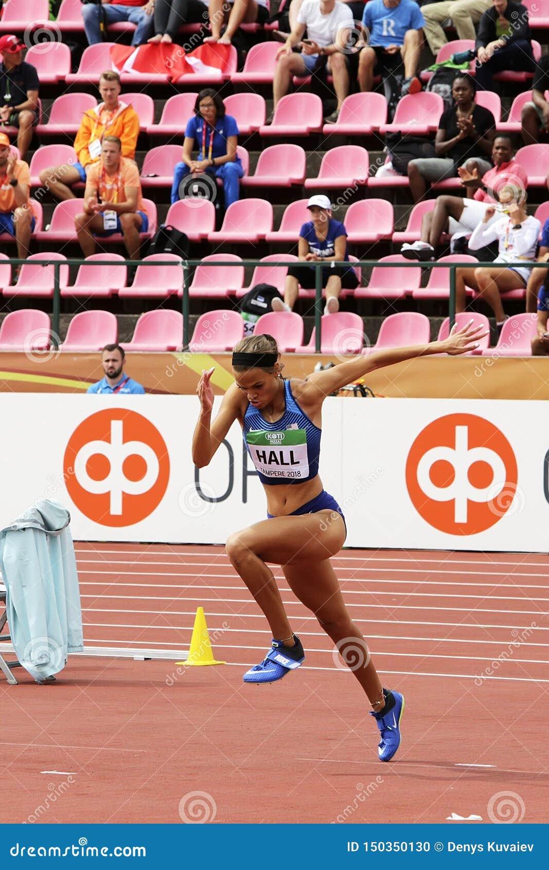 ANNA HALL usa, ameryka?ska zawody atletyczni atleta na heptathlon wydarzeniu w IAAF ?wiacie U20