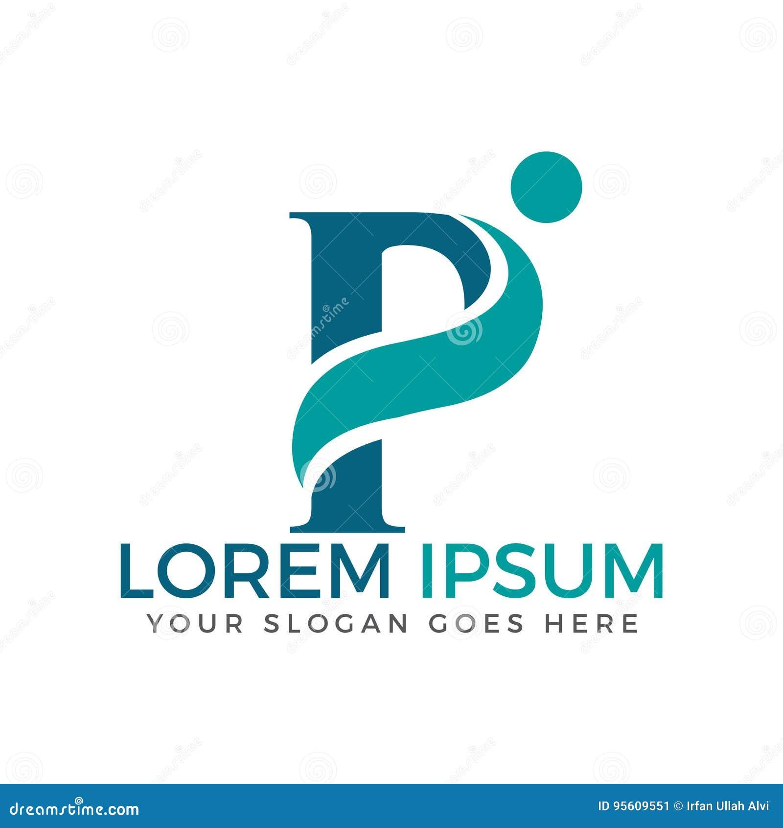 Annahme des Buchstaben P und Logodesign der medizinischen Grundversorgung