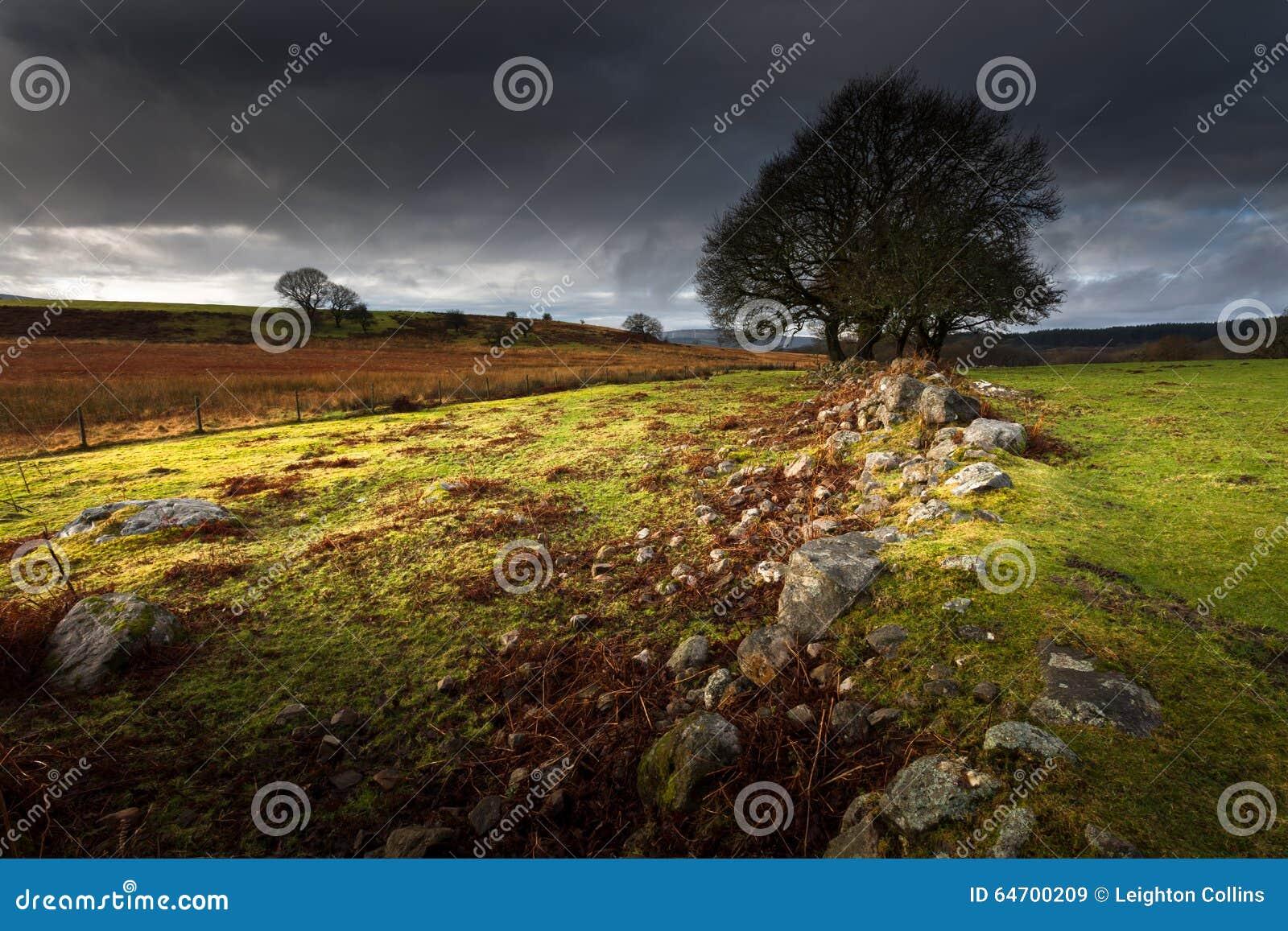 Annalkande storm över Brecon, södra Wales UK