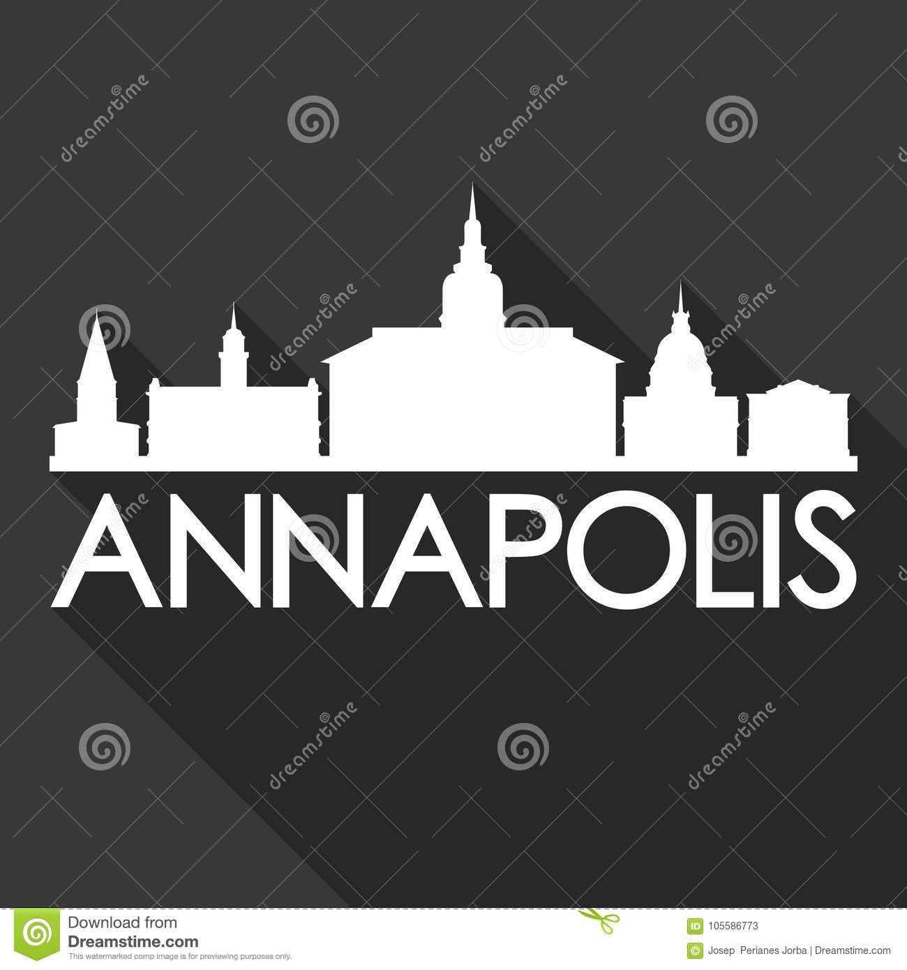 Annapolis Maryland United States Of America USA Icon Vector Art Flat ...