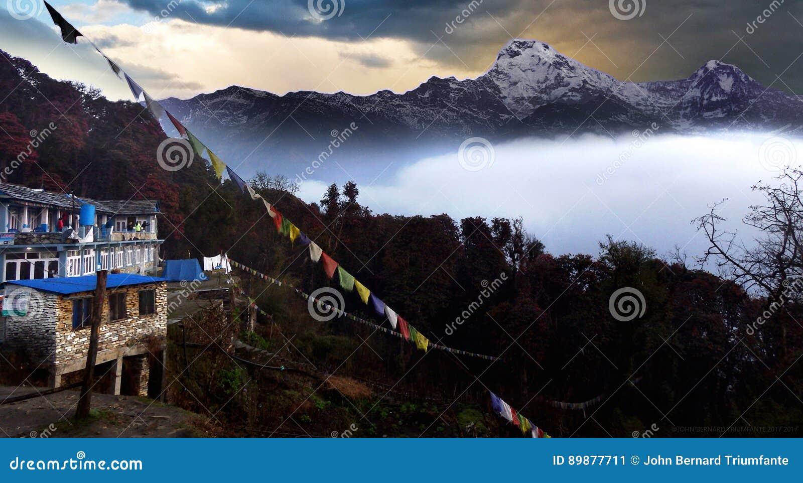Annapurna Mountain Range view from Tadapani